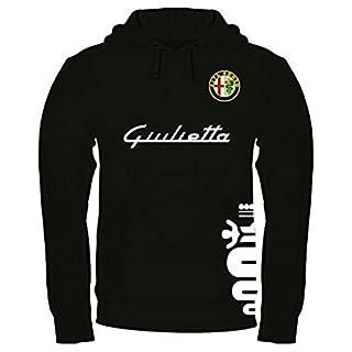 Sweatshirt Alfa Romeo Giulietta Kapuzenpullover personalisierte handgefertigt (s, Schwarz)