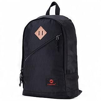 Fubevod Mochila niños Clasico Moderna Laptop Backpacks Unisex Mochila Escolar para Libro Negro