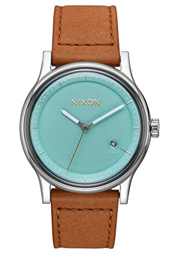 Nixon Unisex Erwachsene Digital Uhr mit Leder Armband A1161-2534-00