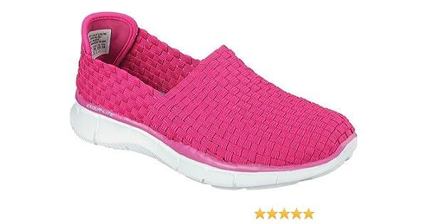 Skechers Damen Equalizer Vivid Dream Sneaker, Pink Pkmt