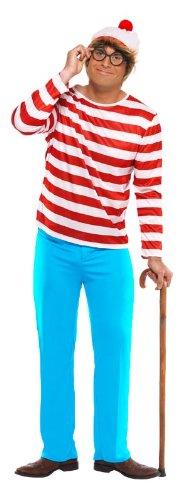 Imagen de smiffy's  disfraz de wally para hombre, talla 42  44 34591l  alternativa