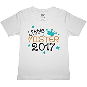 *NEU* Kinder T-Shirt (weiss) mit süßem Flex-Aufdruck - für Junge (Mister) individuelle Wunschangabe und Farbauswahl