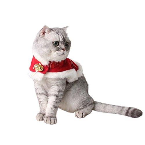 Bello Luna Pet Weihnachten Umhang Schal mit Tinkle Bells Weihnachtskollektion Haustier Kostüm