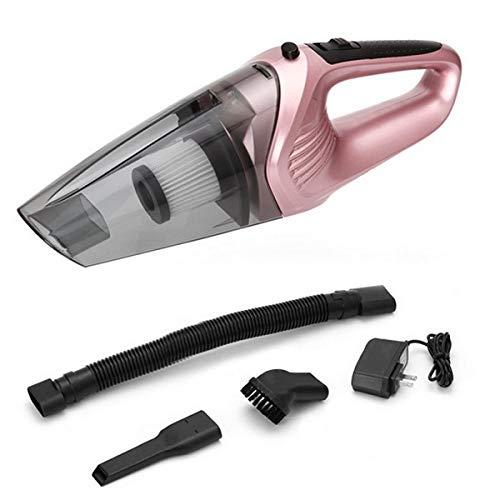 TYKGD Car Home Dual Use Staubsauger Staubfänger Für Trocken Nass Staub Schmutz Cordless Handheld Staubsammler Tragbare Staubsauger Sweeper-Rose Gold