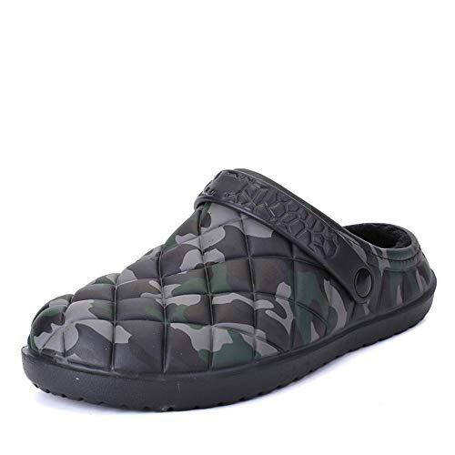 Hualq d12031 pantofole militari del cotone di comodità del camuffamento del vento militare degli uomini di inverno