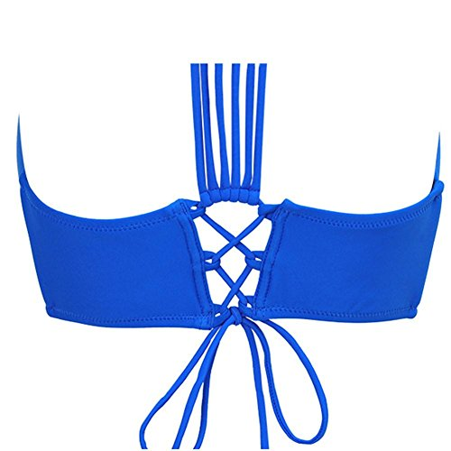 AMYMGLL Frauen Badeanzug neue Europa und die Vereinigten Staaten Bikini Schwimmer Übung plus Fett, um die hohe Elastizität der Umweltschutz schnell trocknen zu erhöhen ann blue