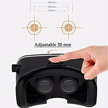 "Elegiant Einstellbar Universal 3d Vr Brille 3d Vr Karton Video Movie Game Brille Virtuelle Realität Glasses Für 3.5""-6"" Android Ios Iphone Samsung Galaxy Mega 2 Galaxy Note 4 Galaxy Note 3 Galaxy Note 4 Galaxy Note 5 Galaxy Note Edge Galaxy S6 Edge Galaxy S6 Galaxy S8 Iphone 8 6 6s 7 Plus 7 Lg G3 Sony Experia T2 Ultra Xperia Z3 + Moto Nexus 6 Htc One Max Wunsch 816 Die M9 Asus Zenfone 2 Uswgoogle Pappkarton Oculus Rift Head Mounted Stirnband 6"