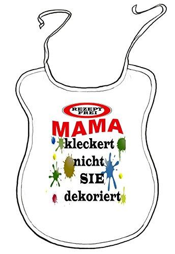 Kleckerlatz Scherz-Latz für Erwachsene Mama Baby-Lätzchen