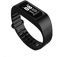 ZfgG Smart Armband Fitness Tracker Herzfrequenz Temperaturüberwachung Schritt Kalorien Musiksteuerung Trinkwasser Erinnerung Armband Wasserdicht Für Android IOS Unisex Perfekter Wohnassistent