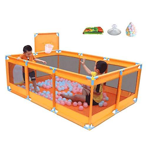 COUR DE RÉCRÉATION Centre D'activités Pliable pour Bébé Parc pour Enfants avec Ballons Centre D'infirmière D'intérieur (Taille : with Basket Box)