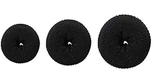 Fok Set Of 3Pc Hair Puff Up Volumizer Bun Donut Puff Maker 3 Sizes Puff Styler Hair Accessory