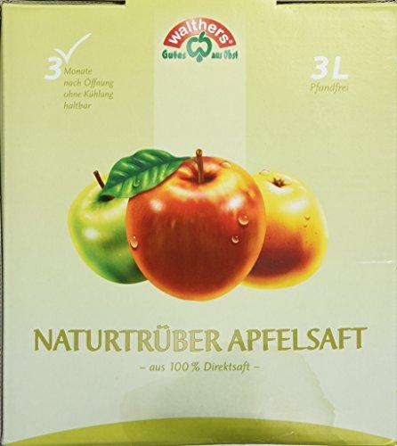Walthers Apfelsaft Direktsaft natur, 2er Pack (2 x 3 l Saftbox) -