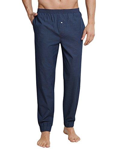 Schiesser Herren Schlafanzughose Mix & Relax Hose Lang Blau (Indigo 824), Medium (Herstellergröße: 050)