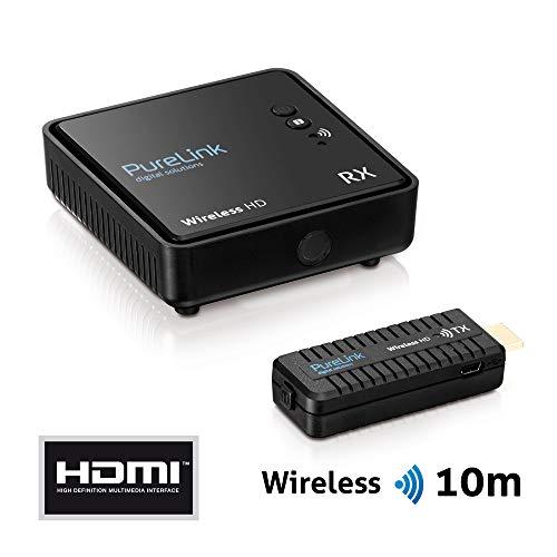 PureLink WHD030Wireless HD Extender Set (Empfänger und Sender) für HDMI mit Full-HD 1080p 3D, kabellos, unkomprimiert, Reichweite max. 10m, schwarz 1080p-hdtv-extender-kit