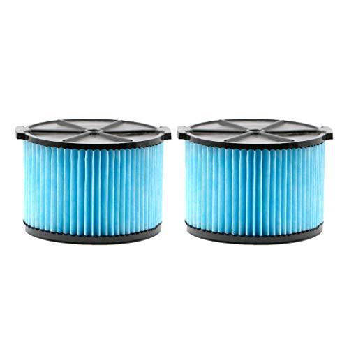 ToDIDAF Staubsauger-Zubehör, Ersatzteile für Kehrroboter, für Ridgid VF3500 Staubsauger, 3-4,5 Gallonen Filter 2 Stk (Ridgid Akku-set)