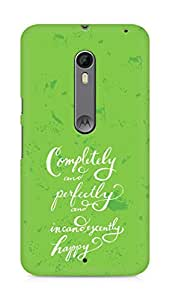 AMEZ completely and perfectly and incandescently happy Back Cover For Motorola Moto X Style