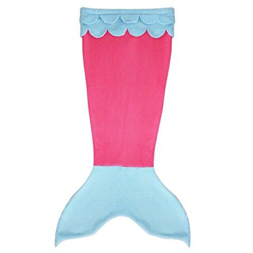 Mädchen Hübsche Kostüm Meerjungfrau - Tiaobug Fleecedecke Wohndecke Lounge-Decke schlafdecke Kuscheldecke Tagesdecke Mädchen Kinder Meerjungfrau Kostüm Schwanz Flosse Decke- Ideale Geschenk für Mädchen