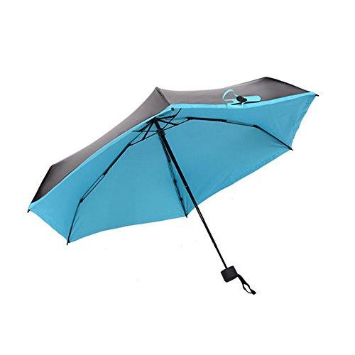 Creativo ombrello tascabile, NNIUK facile trasporta ombrello pieghevole, Giallo