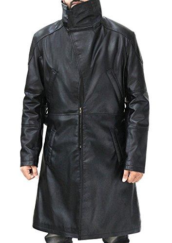 e Genius Officer K Blade Runner 2049 Ryan Gosling Fur Lapel Collar Trench Leather Coat