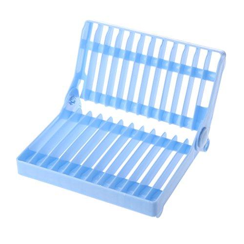 LANDUM Abtropfständer, aus Kunststoff fodable Trocknen Regal Halter für Teller Tablett, Plastik,...