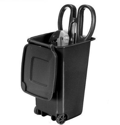 Preisvergleich Produktbild cofco Creative Trash Can Design Recycling Mini Mülltonne Aufbewahrungsbox Stifthalter / Pen Jar Pot (schwarz)