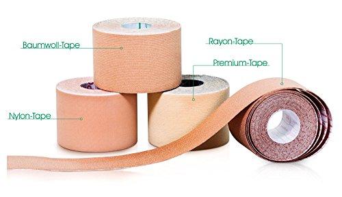 Schnupperpaket Kinesiologie-Tape 4 Rollen (Baumwolle, Premium, Nylon und Rayon))