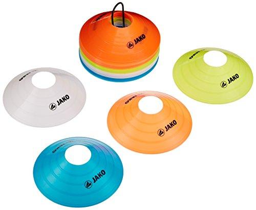 JAKO Equipment Markierungshütchen 40er Set, Rot/Gelb/Weiß/Blau, 2134