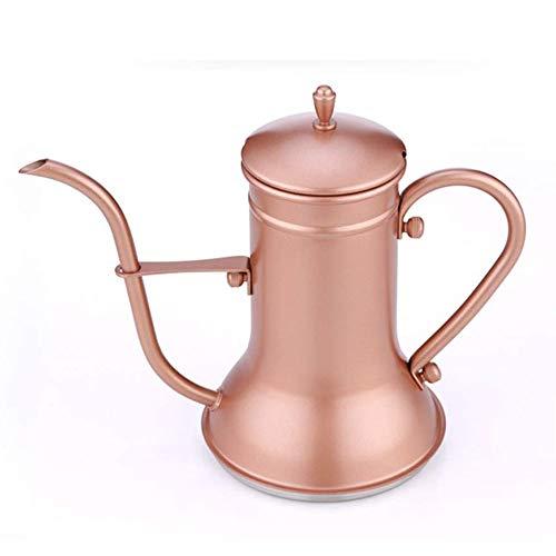 DWLXSH Kaffeekanne Edelstahl Schwanenhalstopf, Wasserkocher Tropfkaffee zubereiten Haushaltskaffeegerät Wasserkocher Kaffee Tee einschenken