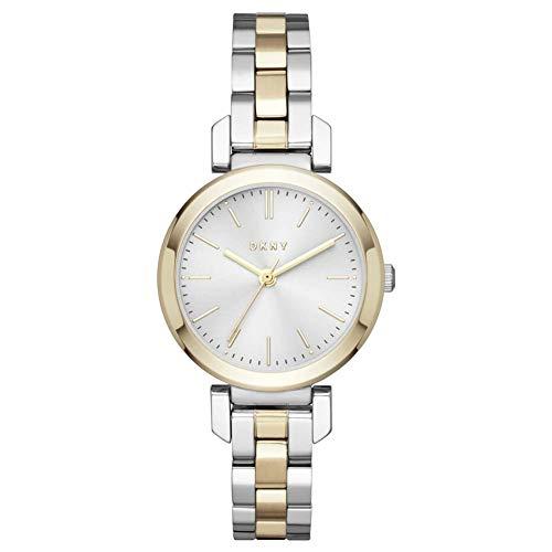 DKNY Reloj Analógico para Mujer de Cuarzo con Correa en Acero Inoxidable NY2670