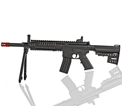 Softair-Gewehr Sturm-Gewehr mit Zweibein 6 mm ca. 87 cm lang gold M-8047-1 Kinder-Gewehr Spielzeug-Gewehr Air-Soft