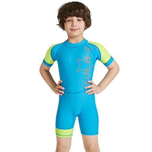 Gogokids Jungen Mädchen Einteiler Kurzarm Badeanzug - Kinder Bademode mit UV-Schutz 50+ Neoprenanzüge Tauchanzüge