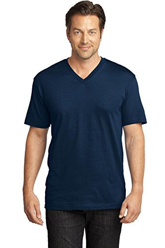 Navy Medical Scrubs (District Made® Mens Perfect Weight® V-Neck Tee. DT1170 New Navy 3XL)