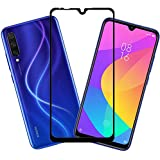Glasgow for Xiaomi Mi A3 5D Tempered Glass Screen Protector Guard | Full Glue Curved Tempered Glass | Bubble Free Installation | Gorilla - Black