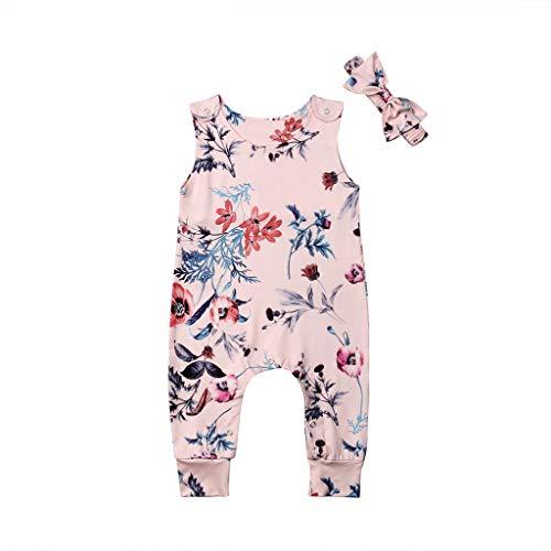 squarex Kleinkind Baby Mädchen Blumenspielanzug Kinder Sleeveless Jumpsuit Kleidung Sets Sommer Cute Jumpsuit Casual Romper -
