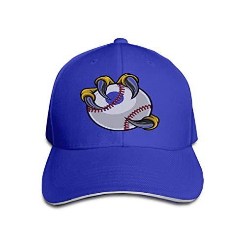 Baseball Cap Classic Cotton Dad Hat Adjustable Plain Cap Eagle Bird Monster Claw Holding Baseball Ball Talons Sports gra Blue ()