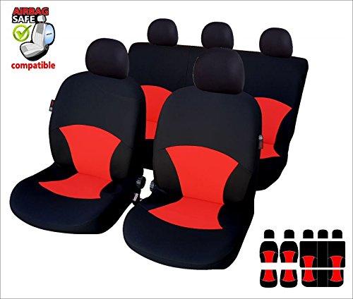 rosso Coprisedili Fiat 600 bicolore nero