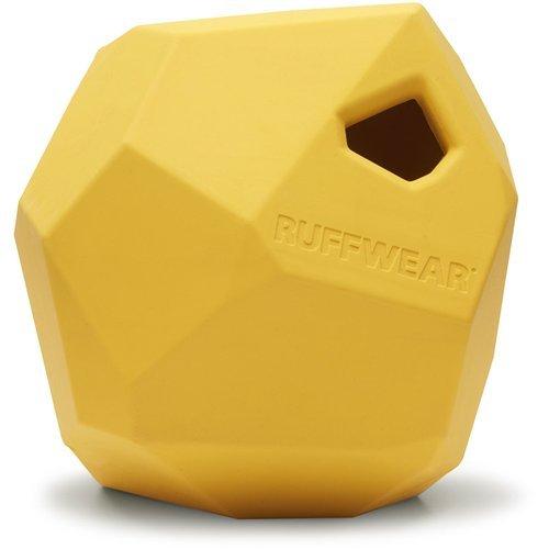 Ruffwear Kaufestes Hundespielzeug aus Gummi, Futter und Leckerli Aufbewahrung, One Size, Gelb (Dandelion Yellow), Gnawt-a-Rock, 6073-755