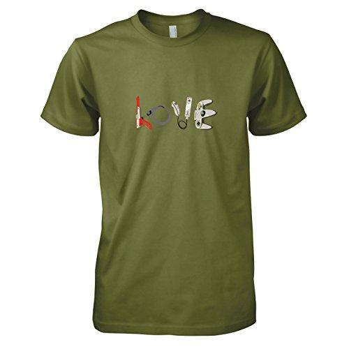TEXLAB - Banksy Gaming - Herren T-Shirt, Größe XXL, oliv