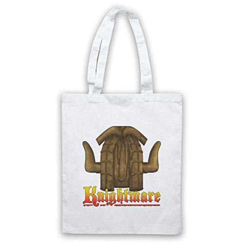 Inspiriert durch Knightmare Kids TV Logo Inoffiziell Umhangetaschen Weis