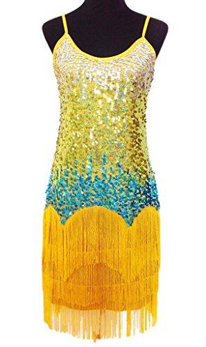 Eyekepper Robe Femme/Demoisellele Paillettes Costume de danse Jaune