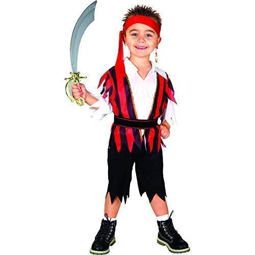 Bodysocks Fancy Dress Costume da Pirata dei 7 Mari per Bambino (da 10 a 12 Anni)