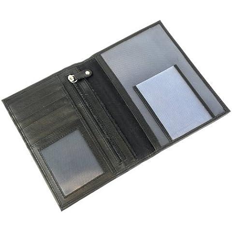 Carpoint 2323450 - Billetero con compartimentos para billetes y monedas, color negro
