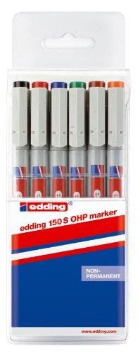 edding 4-150-6 OHP-Marker 150 S, Non-permanent, 0.3 mm, sortiert