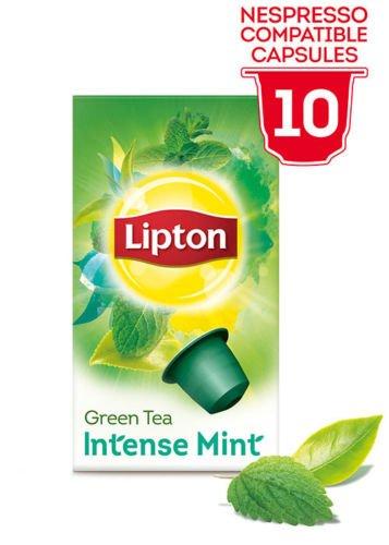 LIPTON Nespressokapseln kompatibel - GRÜNE TEE INTENSE MINZE - 6 x 10 kapseln (gesamt:60 st)