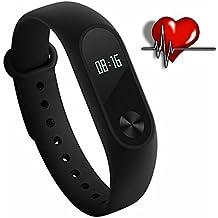 xiaomi miband 2 pantalla oled de aptitud de la frecuencia cardíaca de veinte días batería ip67 inteligente pulsera xiaomi mi banda 2