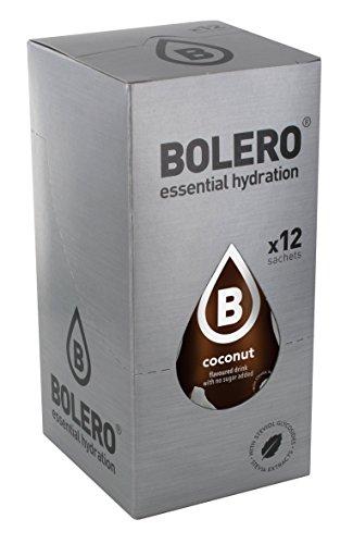 12 x Bolero Powdered Drinks Classic 9 g sachet Kokos
