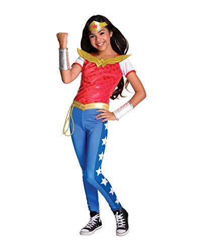 Idealtrend Superhelden Kostüm Kinder Avengers Batman Superman Fasching Karneval Cosplay: Farbe: Wonder Woman Deluxe | Größe: S