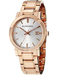 Burberry Men's BU9004 Large Check Rose Goldtone Stainless Steel Watch