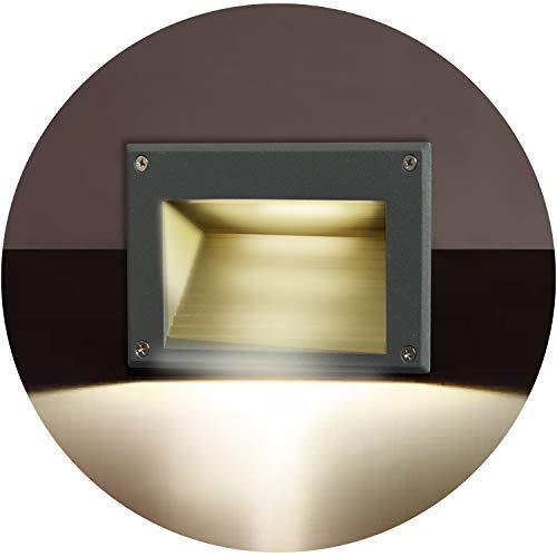 Topmo-plus 3W LED luz del piso/ Lámpara empotrable vestíbulo Escalera al aire libre Iluminación de caminos / Osram SMD luz hacia abajo Exterior Interior IP65 Escalera / vestíbulo / caminos 16CM gris