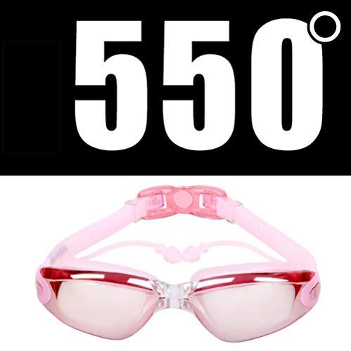 FENGG Optische Brille RX Myopie - 3.0 bis-5.5 Erwachsene Kinder unterschiedliche Stärken für jedes Auge Schwimmen,550
